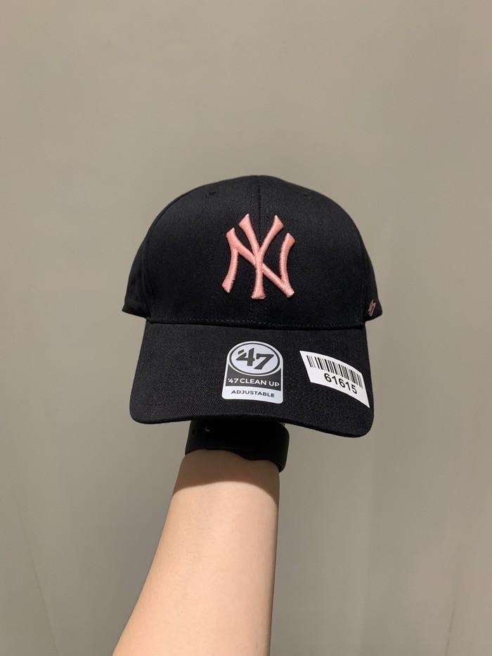 Topi NY BIG LOGO NEW YANKEES pink black cap