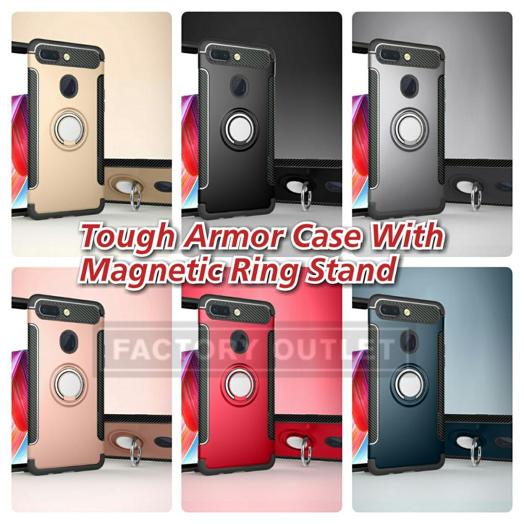 Tough Armor case with fold out magnetic finger ring stand