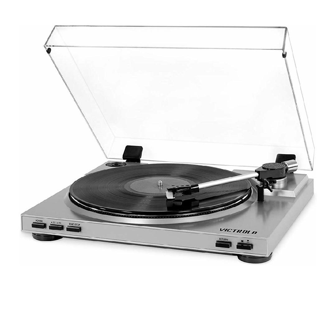 Victrola Pro - USB Record Player 2-Speed Turntable with Mac/Pc Software Color Silver