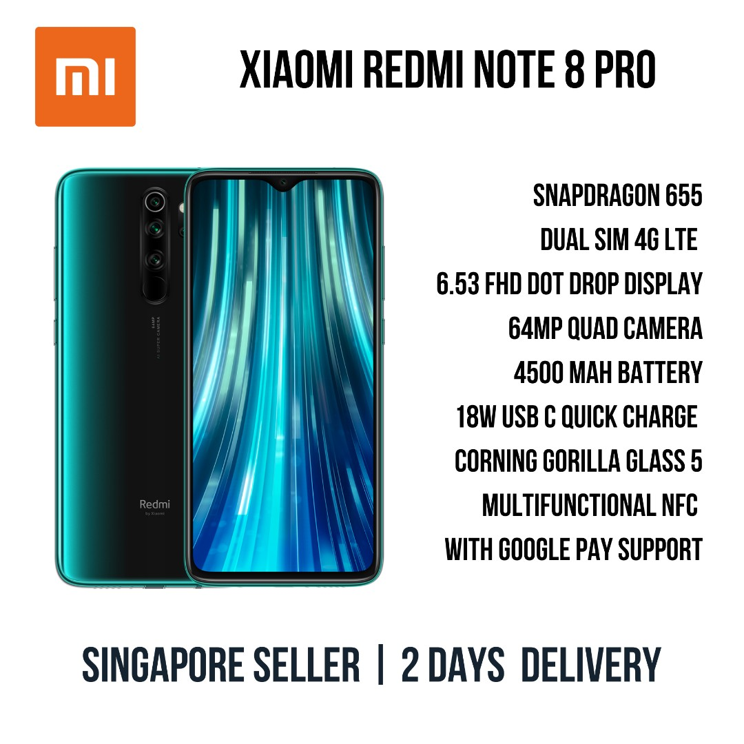 Xiaomi Redmi Note 8 Pro Smartphone - Global / English ROM