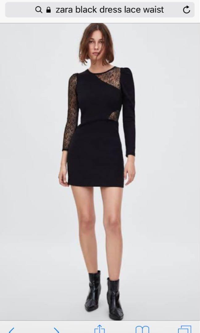 Zara TNF Contrast lace dress