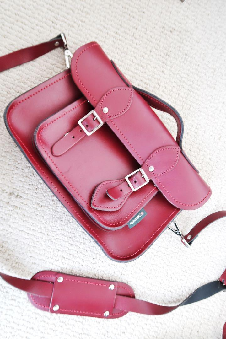 Zatchels micro satchel bag, oxblood leather woman bag
