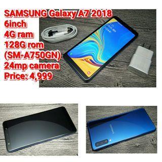 SAMSUNG Galaxy A7 2018 6inch  4G ram  128gb rom rom