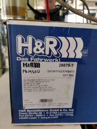 H&R lowering springs F30 BMW