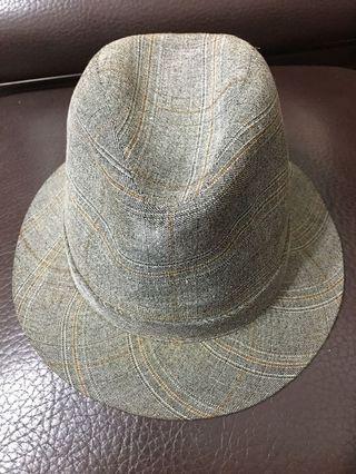 全新進口高級灰色格子帽