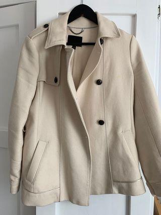Cream Wool coat - Banana Republic