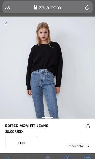 Zara mom jeans Size Us 4