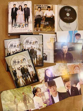 繼承者們 金宇彬 李敏鎬 朴信惠 正版 DVD+ 原聲帶 近全新 還附上寫真