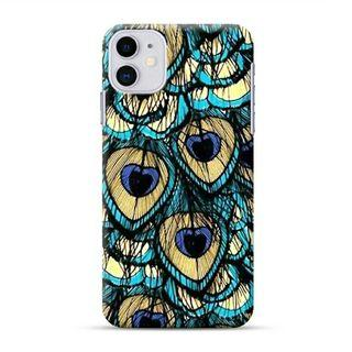 Peacock Feather iPhone 11 Custom Hard Case