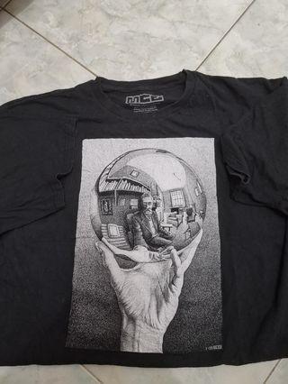 M.C. Escher Reflecting Sphere Tee