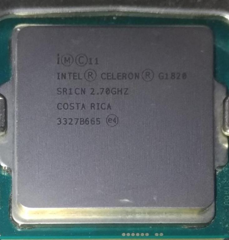 1150腳位 GIGABYTE 技嘉主機板 GA-H81M-S1 REV:2.0 + Intel G1820 附擋板