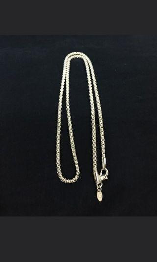 銀項鍊Silver necklace 長度約54公分 男女皆可以帶