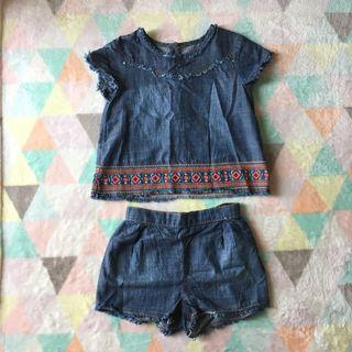 MATALAN Denim Outfit Set