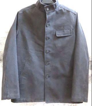 立領 黑 復古 外套 夾克 風衣