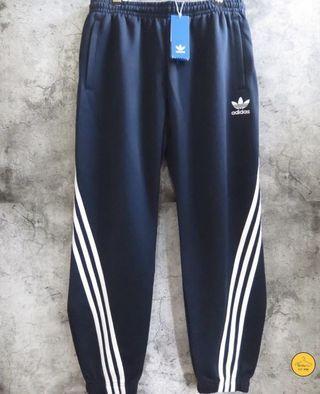 Adidas 褲 三條線 扭轉 旋轉 original 三葉草 日本 運動褲 棉褲 縮口