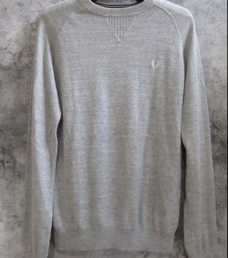 Fred Perry 針織 毛衣 灰 衛衣 保暖 英國 英倫