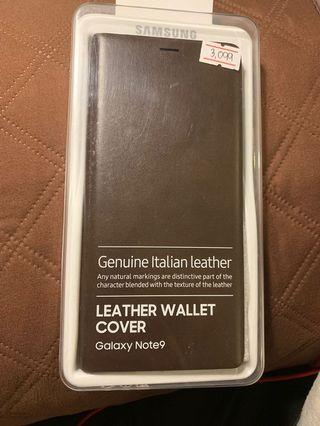 Original BN Italian Leather Wallet Cover Samsung Note 9