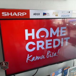 """TV Sharp 45"""" Cicilan Tanpa Kartu Kredit & Gratis 1 Kali Angsuran"""