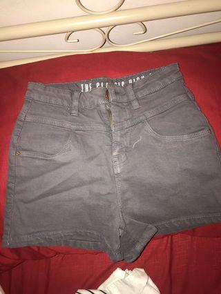 Hotpants grey cutton on