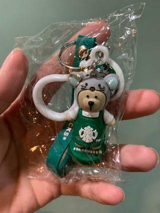 星巴克十二生肖鑰匙扣 韓版星小熊鑰匙圈 情侶款玩偶 掛件 吊飾 禮物 汽車鑰匙圈