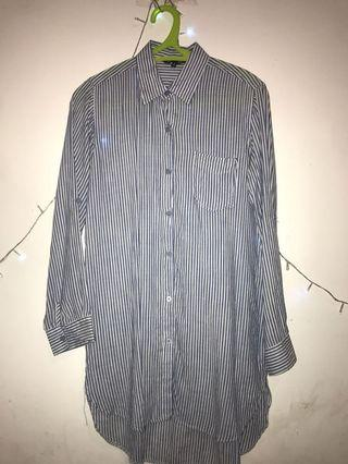 minidress h&m stripe blue