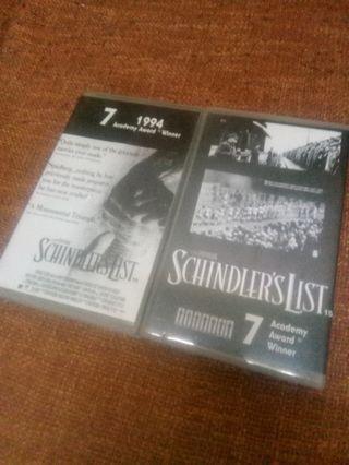 Schindler's List video cassette