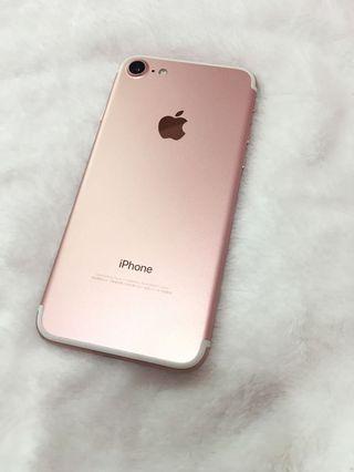 女用機 iPhone 7 i7 128g 玫瑰金