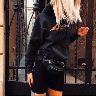 Brandy Melville 黑色皮革腰包