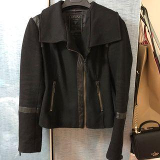 Guess Moto Leather Wool Jacket