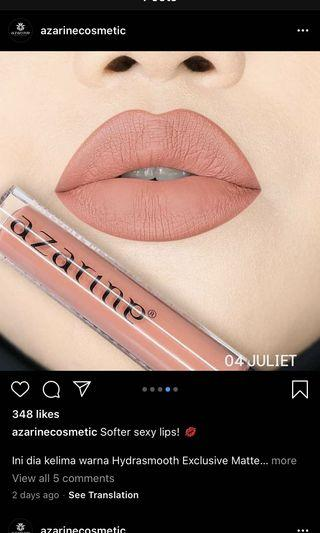 AZARINE HYDRASMOOTH exclusive lip