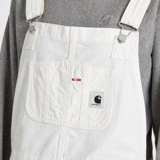 全新 Carhartt WIP bib WHITE 工人褲 Size L