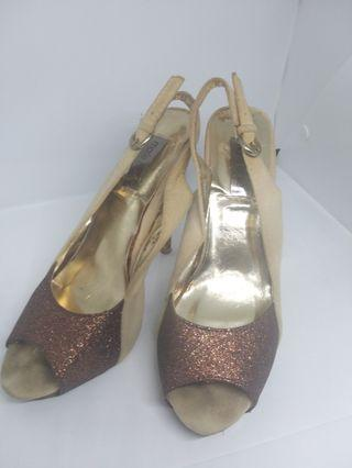 Open toe shoes. High heels