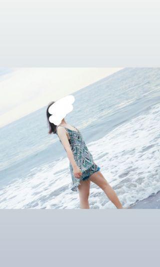 售照片中的罩衫 泳衣罩衫