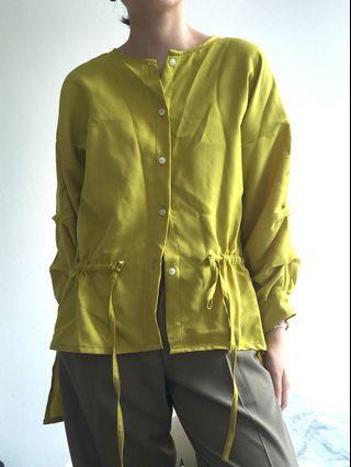 Lime green long sleeve blouse