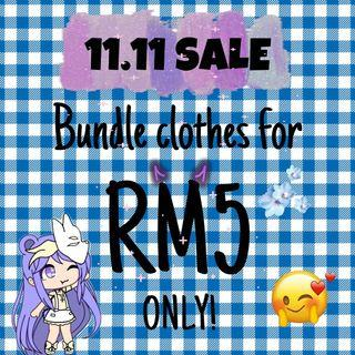 11.11 SALE BUNDLE CLOTHES (SWEATSHIRTS & SWEATERS) for RM5 only‼️