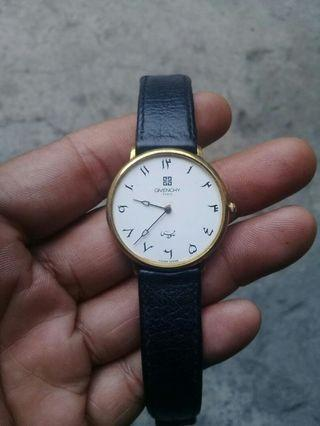 Givenchy Paris Watch Arabic Numerals AUTHENTIC Luxury Swiss Made $1000 Unisex