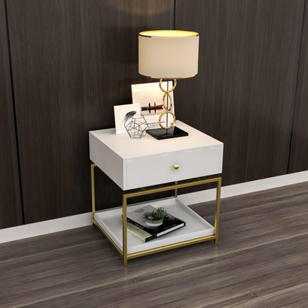 [2nd 50% OFF] Modern White Bedside Table