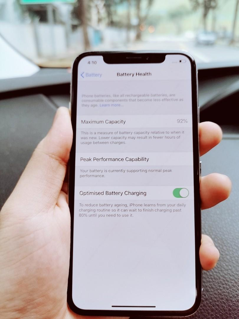 92% BATTERY HEALTH IPHONE X 64GB SILVER