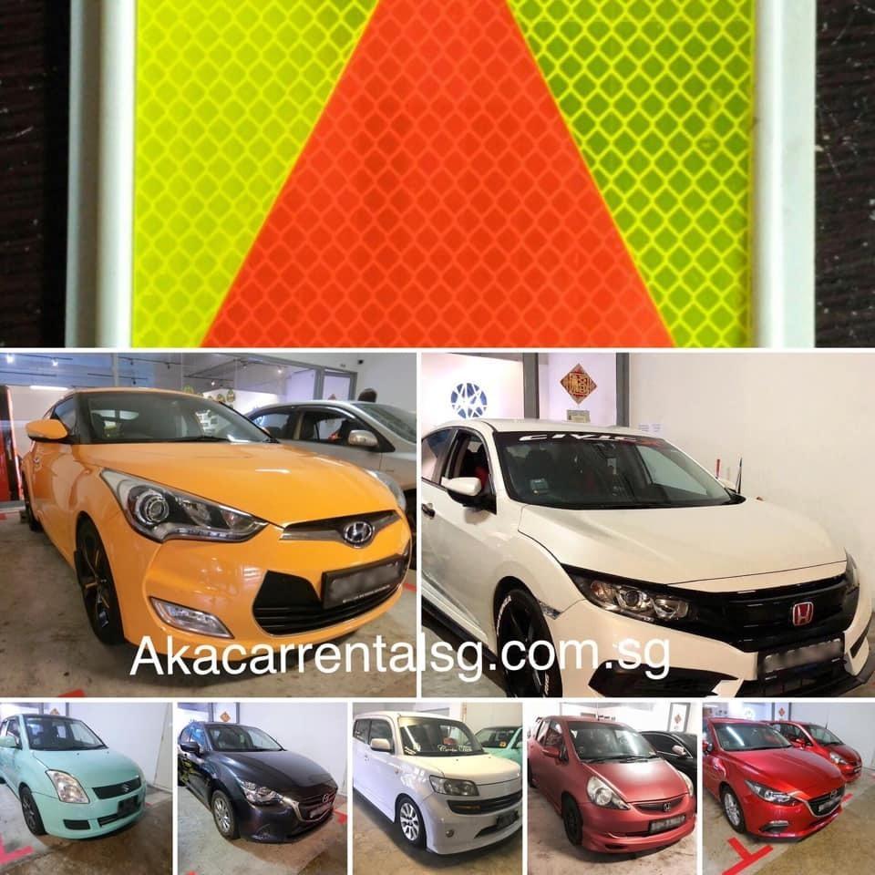 98000933 P plate car rental singapore