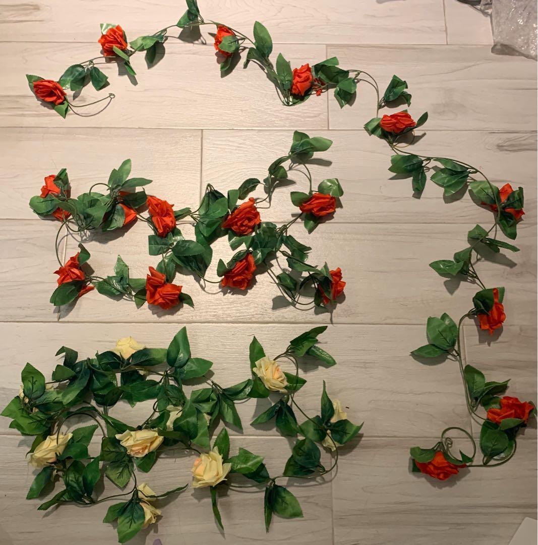 婚禮物資❤️婚後幸福傳承 油畫架佈置玫瑰花條三條