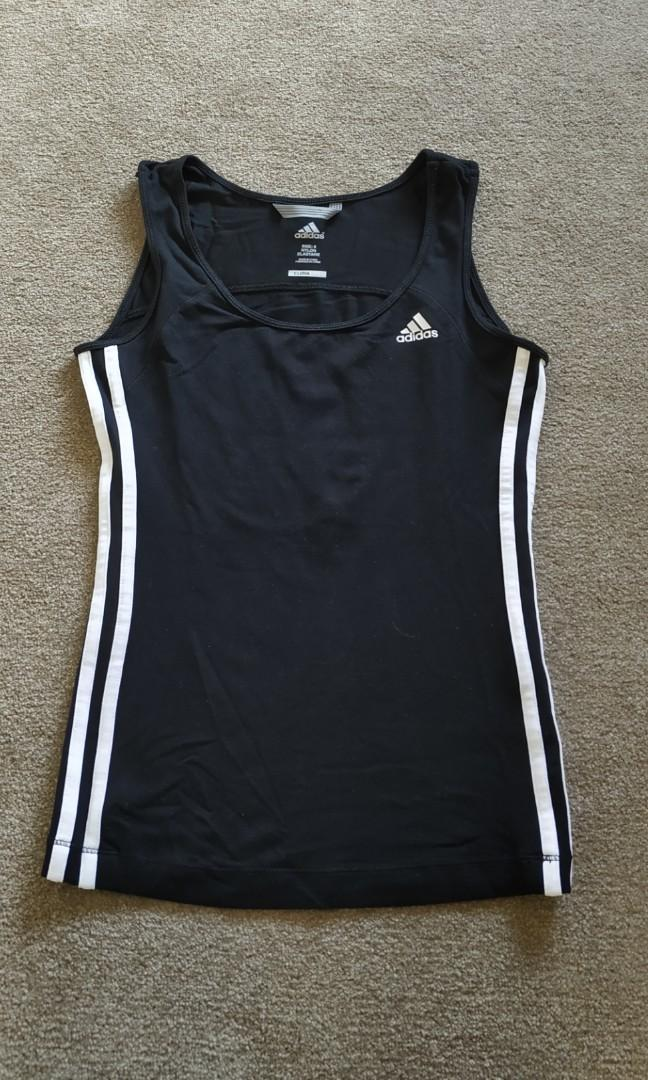 ADIDAS Climalite gym workout fitness yoga running SL top Sz 8