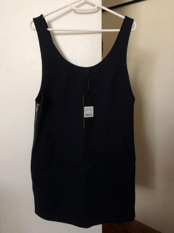 All About Eve Navy Pinafore
