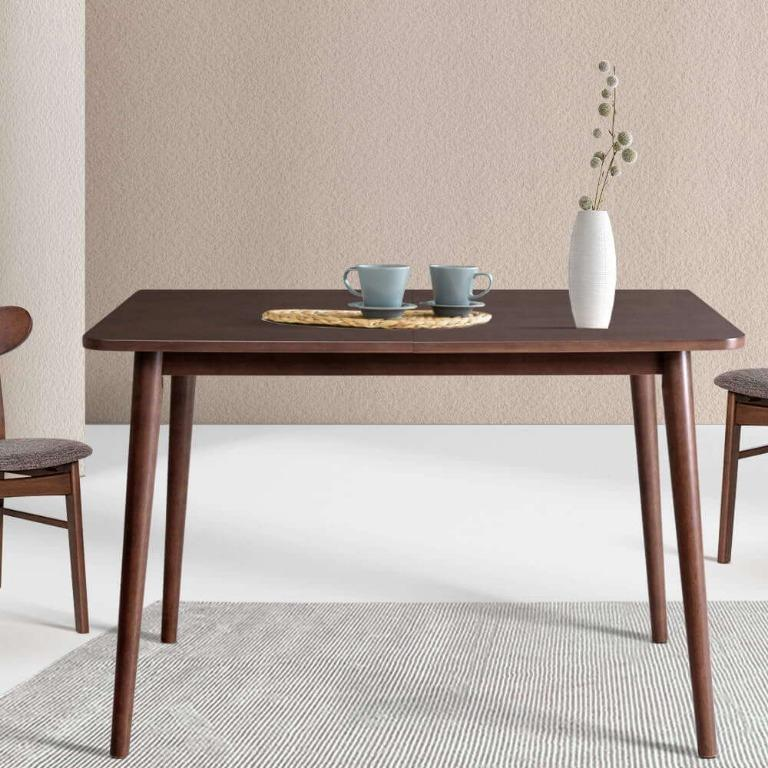 Artiss Dining Table 4 Seater Tables Square Wooden Timber scandanavian 110x70cm