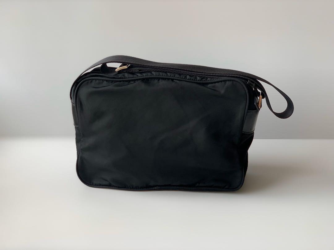 Authentic Prada Black Nylon Tessuto Small Sling Bag