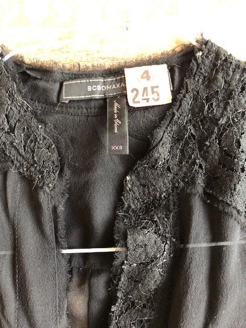 Beautiful BCBG Maxazria Silk/chiffon and Lace Shirt on Sale!