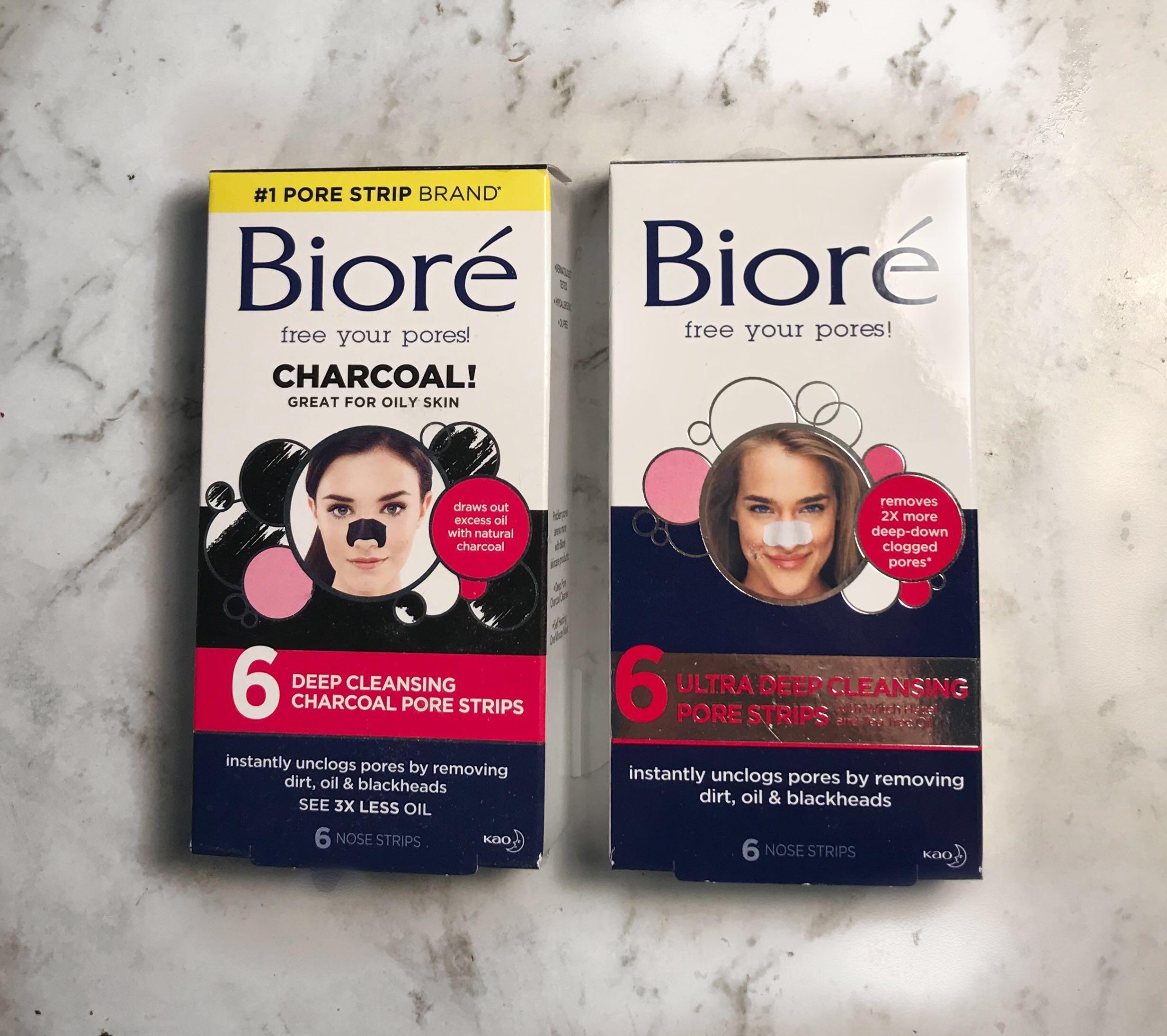 BIORÉ NOSE PORE/BLACKHEAD STRIPS (charcoal or regular)