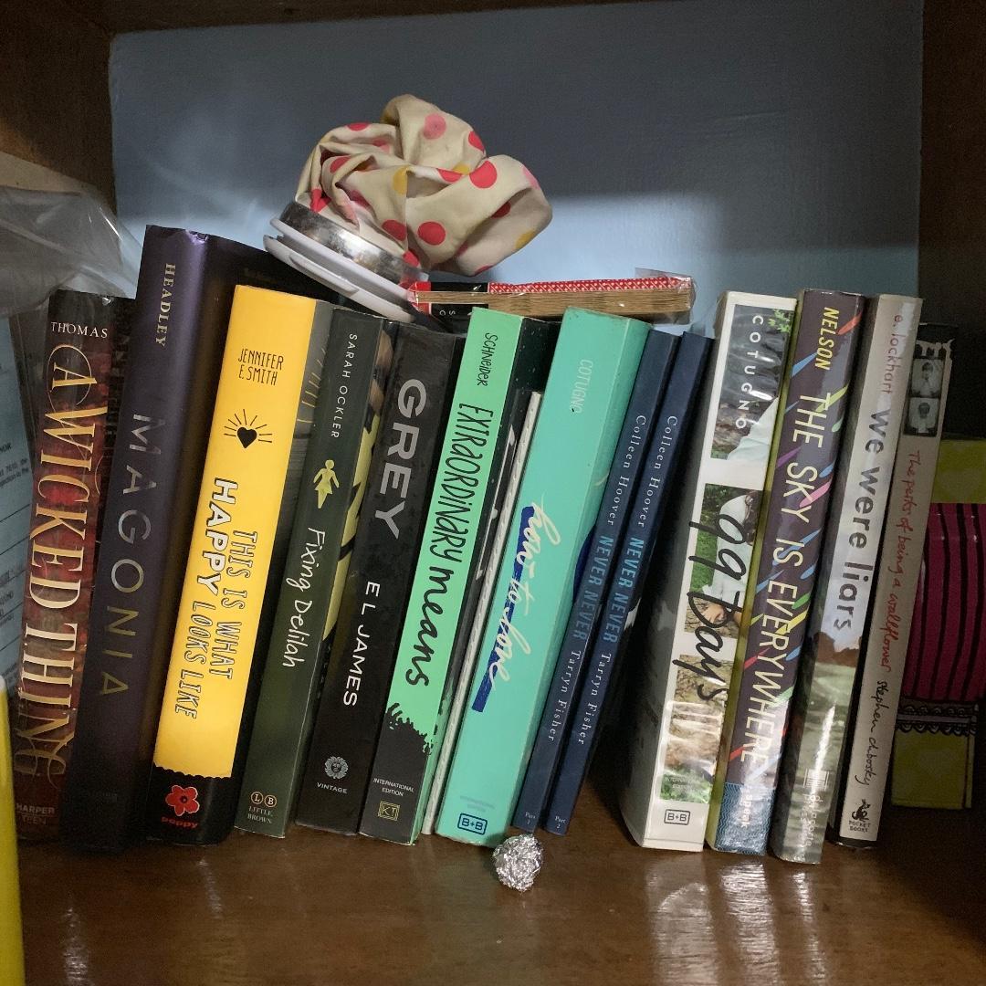 BRAND NEW BOOKS 350 PESOS AND PRELOVED BOOKS 250 PESOS!!! COLLEEN HOOVER, MARIE LU, STEPHANIE PERKINS, JENNY HAN, ETC