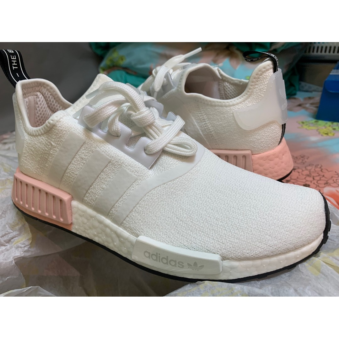 adidas nmd r1 cloud white vapour pink
