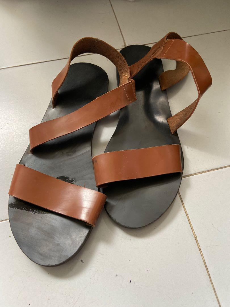 Brown Minimalist Sandals