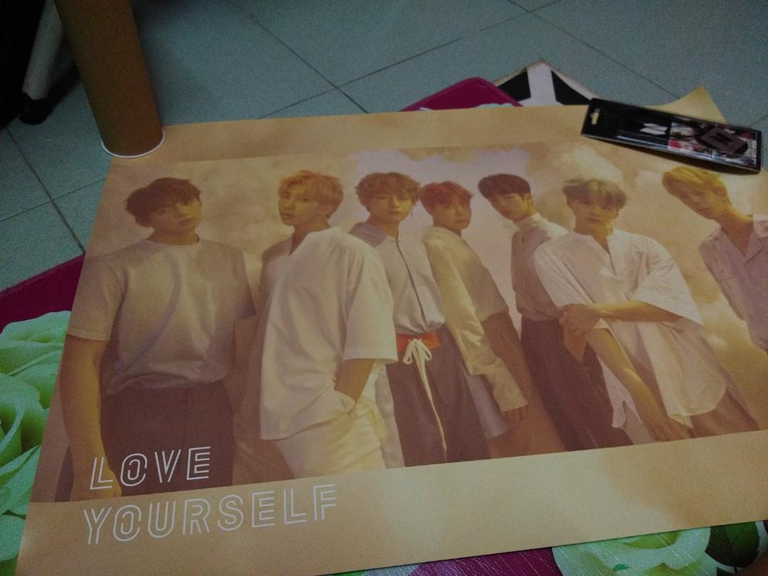 BTS poster [Love Yourself] [Unofficial] + Free BTS Necklace